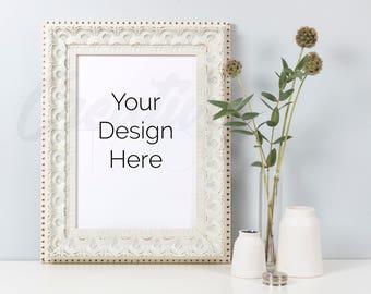 Download Free Styled Frame Mockup, White Frame Mockup, A4 print, Mockup, Wedding Mockup, White Frame, PSD Smart Object & JPEG, Instant Digital Download PSD Template