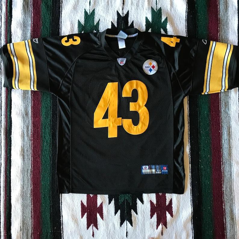 5cf1bdb2b86 Reebok NFL Pittsburgh Steelers Troy Polamalu Football Jersey | Etsy