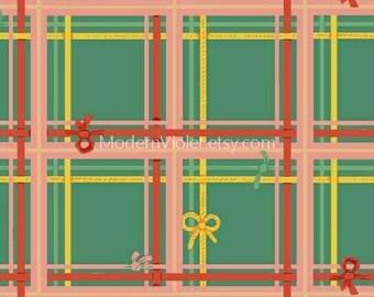 Sugarplum by Heather Ross for Windham Fabrics, Plaid on Spruce 50168-8 Sugar Plum Christmas Holiday Seasonal