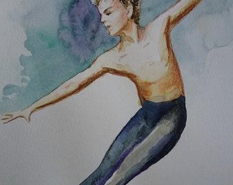 Ballet dancer jump A3