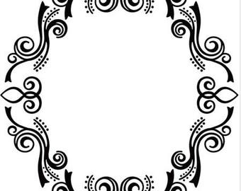 Workbook embossing arabesque oval 13 x 13 cm_EFE12
