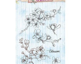 A6 flowering branch - STAMPBF142 clear stamp