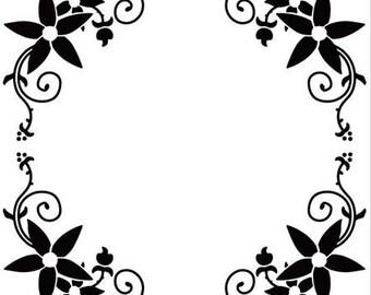 Workbook embossing round arabesque 13 x 13 cm_EFE10