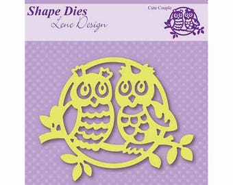 "Dies ""OWL love"" 8 x 10 cm_SDL003"