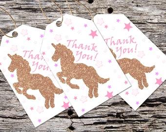 Thank You Tags Printable Unicorn