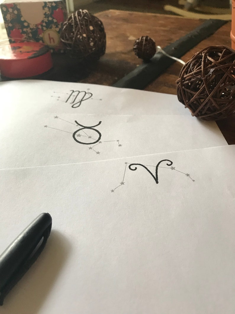 Printable Signs of the Zodiac Stationery