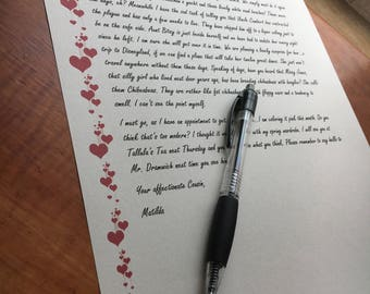 Stationery Red Hearts