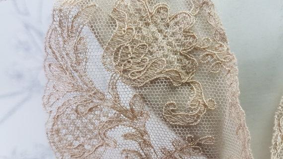 Antique lace collar, dark cream lace collar, earl… - image 3
