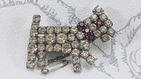 Vintage Style Jewellery Art Deco Dog Brooch