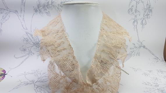 Antique lace collar, dark cream lace collar, earl… - image 9