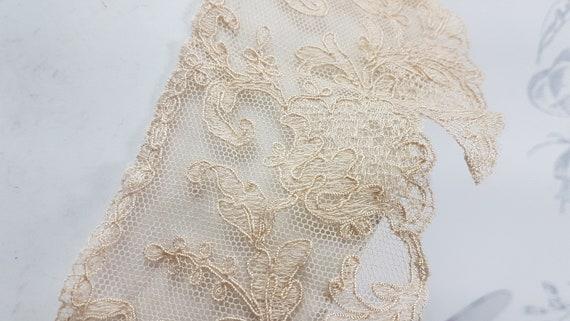 Antique lace collar, dark cream lace collar, earl… - image 4