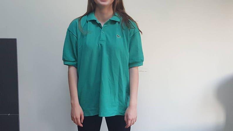 211506765 Lacoste Polo Shirt 80s Vintage Lacoste Green Polo Shirt
