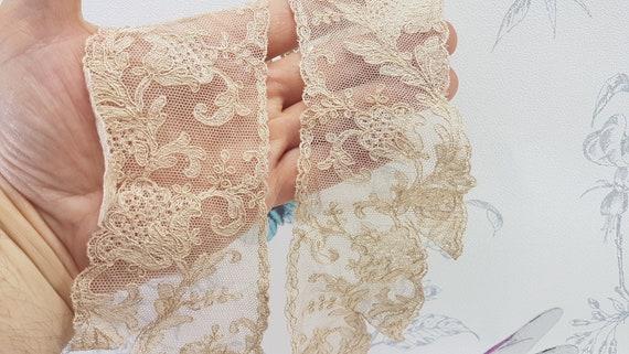 Antique lace collar, dark cream lace collar, earl… - image 8