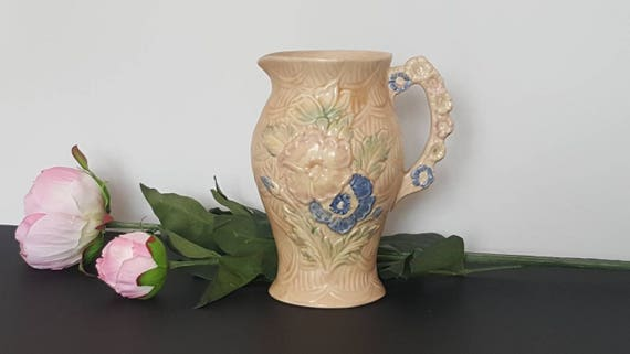 Arthur Wood Jug Wild Flowers Vintage Shabby Chic Etsy