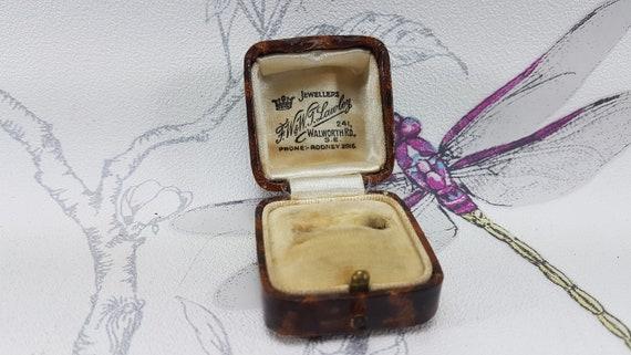 Art Deco ring box, vintage ring box, antique ring