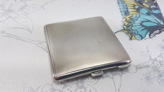 Vintage sterling silver compact mirror, silver pow