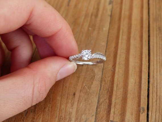 USA vendeur Diamond Cut 2 mm band ring sterling silver 925 Best Bijoux Taille 11