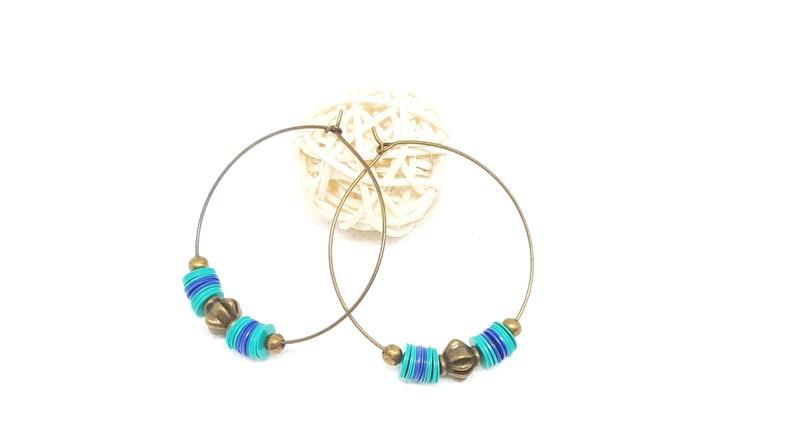 electric blue earrings green turquoise boho gift jewelry