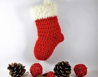 Red Befana Stocking And Crochet Cream