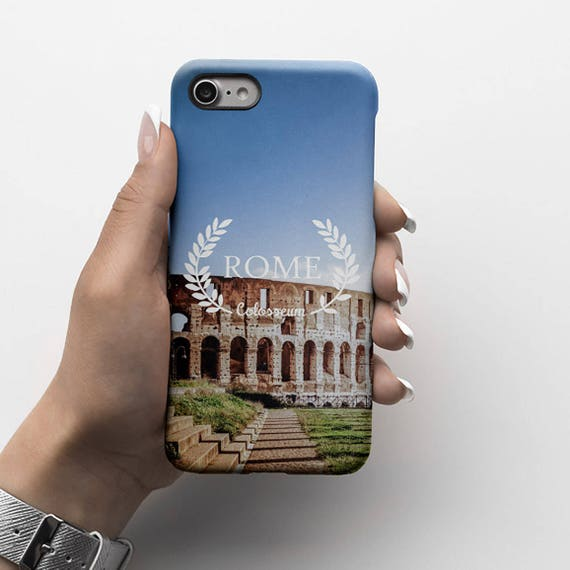 Rome Italy Coliseum Durable Hard Plastic Phone Cover For Iphone 6 Iphone 8 Plus Iphone X Iphone Xs Max Samsung Galaxy S9 Plus Id149