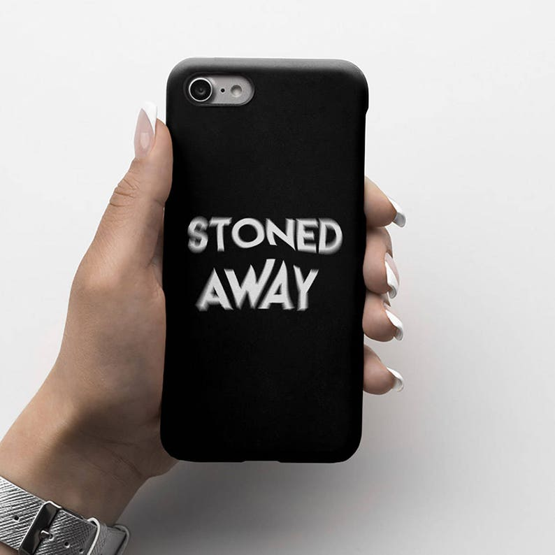 Blurred Lines Stoned Away Durable Hard Plastic Phone Cover For iPhone 6,  iPhone 8 Plus iPhone X iPhone XS Max, Samsung Galaxy S9 Plus |ID185