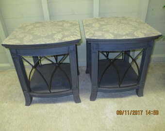 Bespoke pair of side tables