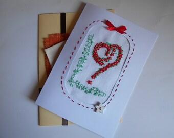 Declaration of love: greeting card