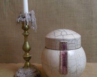 Ceramic raku ceramic raku urn box candy box original gift