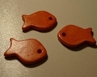 Ceramic fish bead