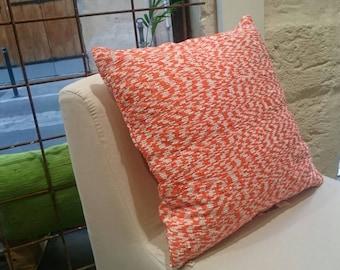 Orange Zebra pillow cover