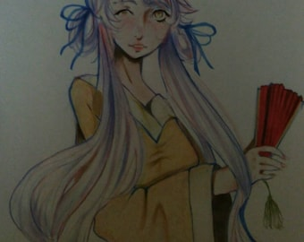 Oc drawing, mixed media