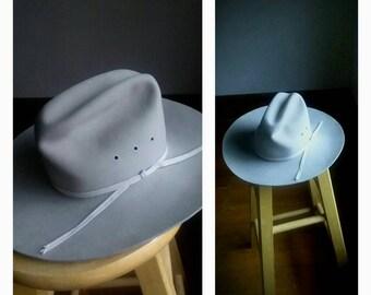 Vintage Bailey cowboy hat light gray taupe grey felt colt 68b4e39dd3e4