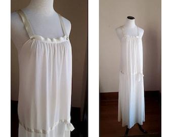 2e1acf5f75d2a Diane von furstenburg vintage White vintage slip nightgown long light  ladies womens 20s flapper 1920s women's synthetic romantic vtg