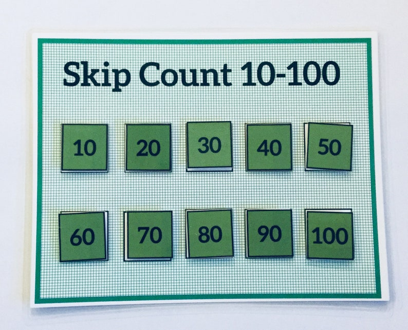 Skip Counting/ Numbers 10-100/Learning Game-Educational Math Game-Preschool  Game--Kids Games -Premade File Folder Game/Children's Game