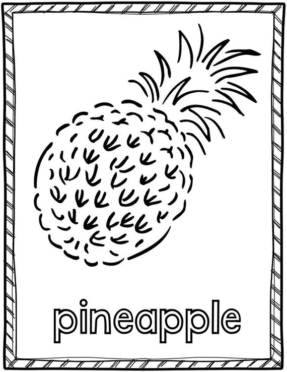 Fruit Coloring Pages/11 Etsy