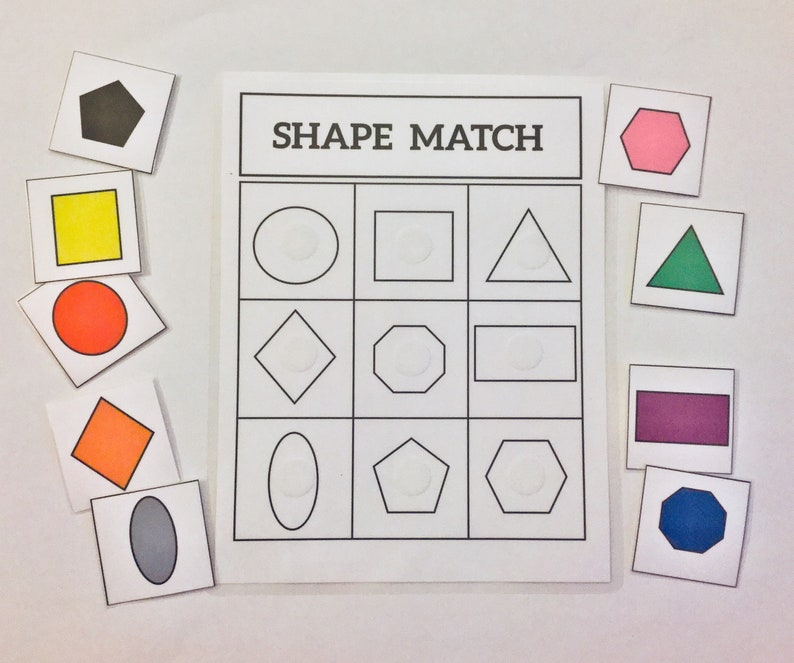 Shape Match Game Learning Game-Educational Math Game ...