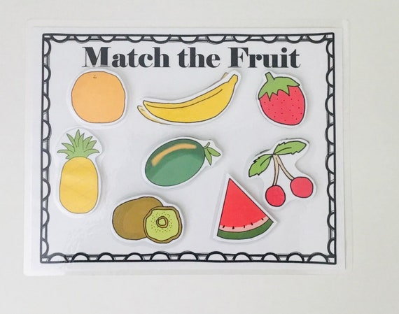 Match The Fruit Matching Game Kids Game Etsy
