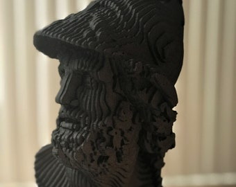 King Menelaus of Sparta, Laser cut 3D Bust
