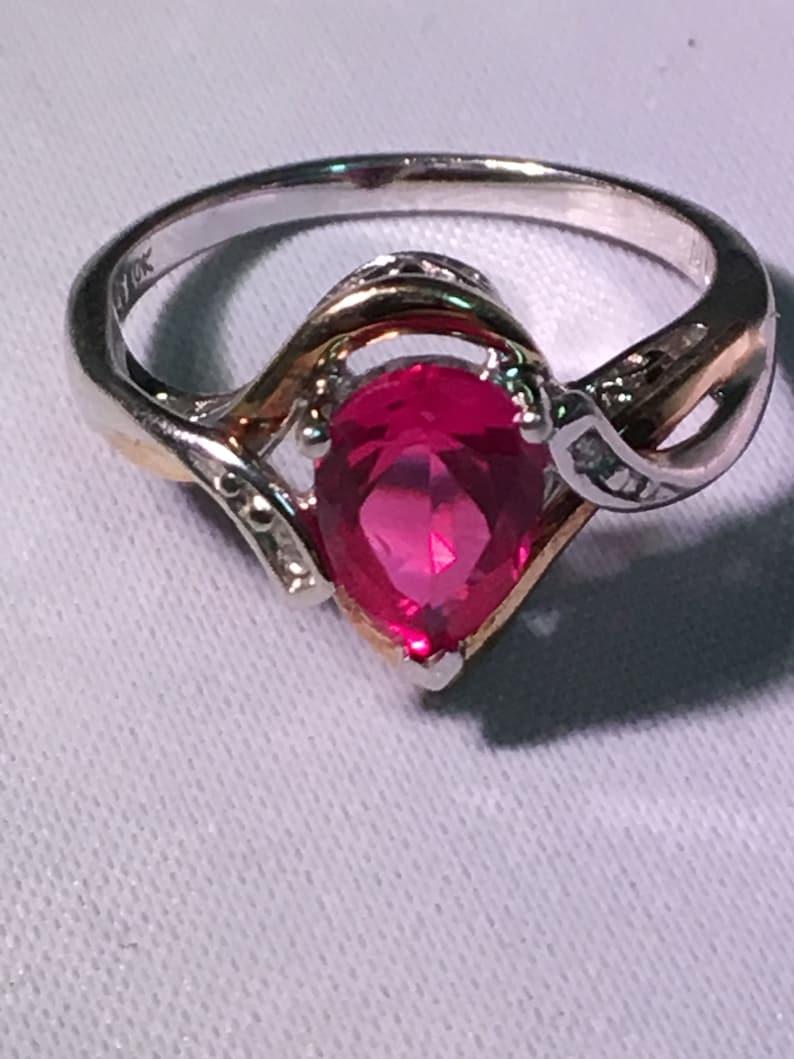 0f91bf806b8251 Alwand Vahan Ring Ruby Ring Teardrop Ruby 10KT Yellow Gold | Etsy