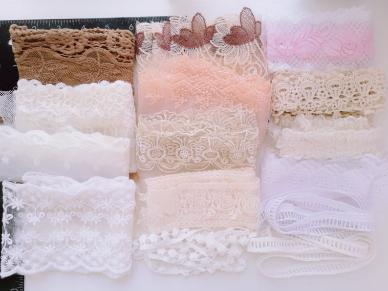 """Christmas Lace Remnant Peices Gold Silver 12/"""" x 10/"""" Grab Bag  Dolls Clothing NEW"""