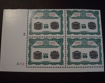 NY Stock Exchange * US Plate Block* Scott #2630 29c [4] MNH
