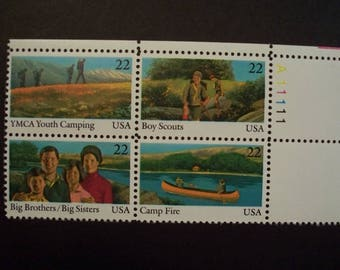 US 1985 International Youth Year, MNH* Plate Blk. of 4 (Scott #2163a) Over 60 Years Old!