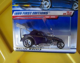 1998 Hot Wheels** Fiat 500C** Collector #919**New in Pkg. Only 1 in Stock