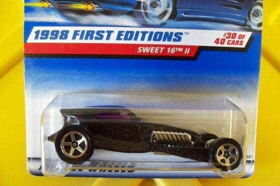hot wheels 1998 vintage first editions sweet 16 ii black   etsy
