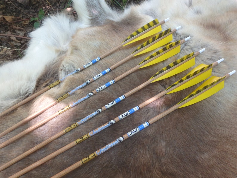 Gold Tip Traditional XT 340 Carbon Arrows- six fpr recurve and longbow