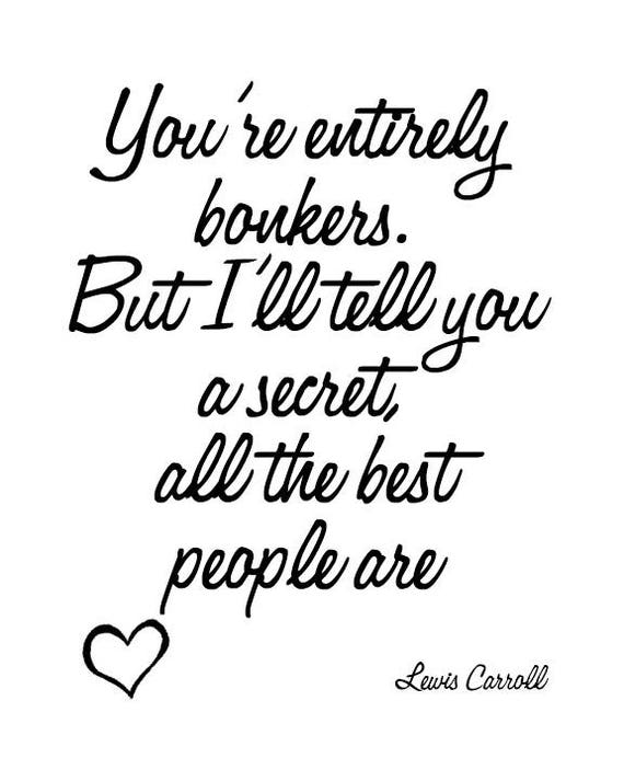 Citation De Lewis Carroll Alice Au Pays Des Merveilles Etsy