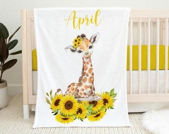 Custom Giraffe Crib Toddler Bedding Custom Nursery Bedding Custom Gender Neutral Crib Toddler Beddding Giraffe Theme Baby Shower Playmat