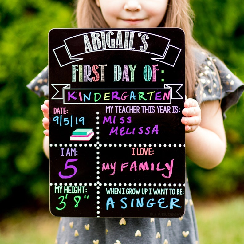 Reusable First and Last Day of School Sign Liquid Chalk Dry image 0