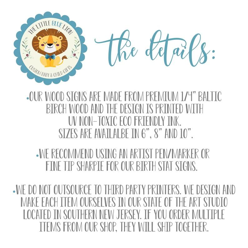 Daisy Sign Girl Birth Stat Sign Newborn Gift Daisy Floral Birth Stat Sign Round Wood Birth Stat Sign Personalized Birth Stat Sign