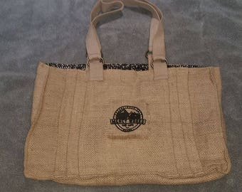 Burlap Tote made in Nepal